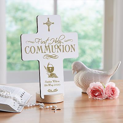First Communion Keepsake Cross