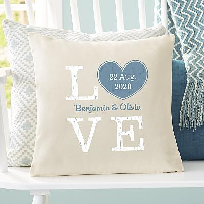 Rustic Love Heart Cushion