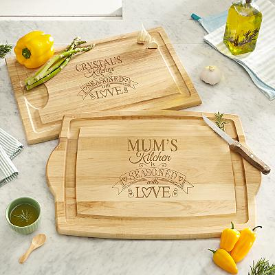 Seasoned With Love Wooden Cutting Board