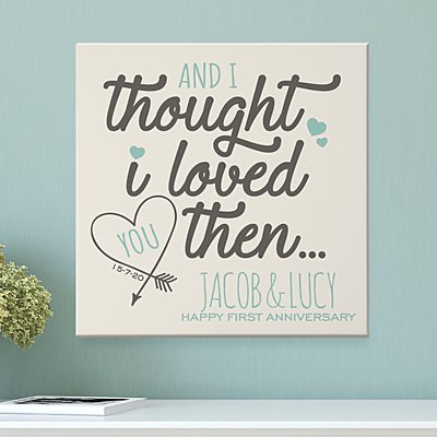 Loved You Then Anniversary Canvas