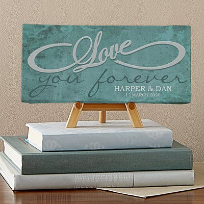 Love You Forever Infinity Canvas