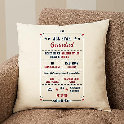 All About You Ticket Stub Cushion