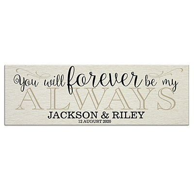 Forever Be My Always Canvas 45x15 cm-Unframed