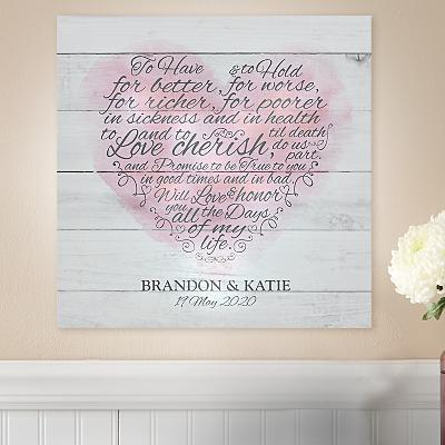 TwinkleBright® LED Wedding Vows Canvas