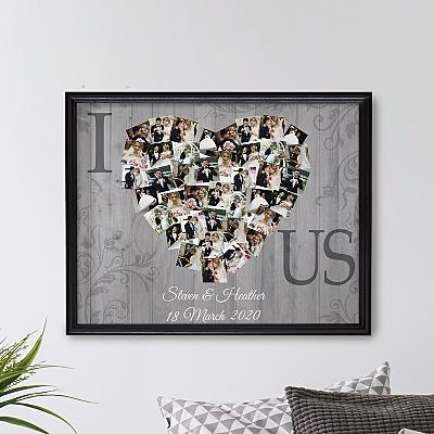 Photos of  Us  Collage Canvas