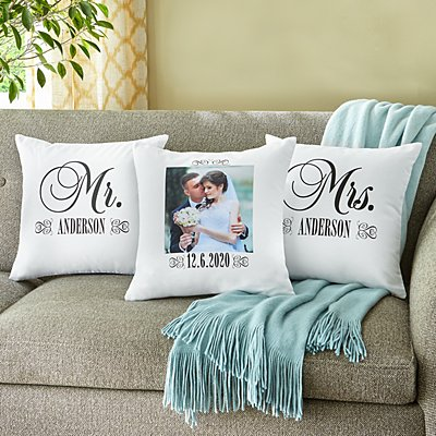 Just Married Photo Sofa Cushion- Set of 3