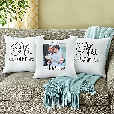 Just Married Photo Cushion- Set of 3