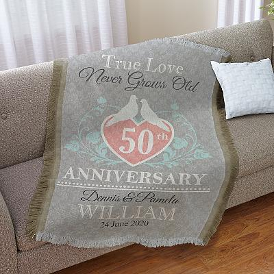 True Love Anniversary Throw