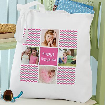 Chevron Photo Message Tote