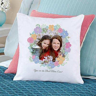 Floral Photo Sofa Cushion