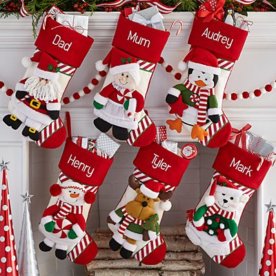 Candy Cane Family Stocking