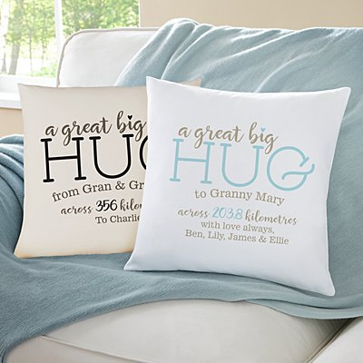 Hugs From Far Away Sofa Cushion