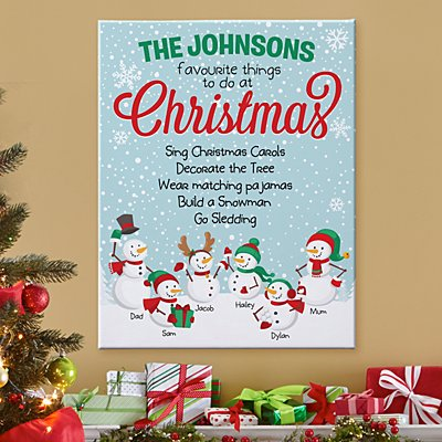 Holiday Favourite Things Canvas
