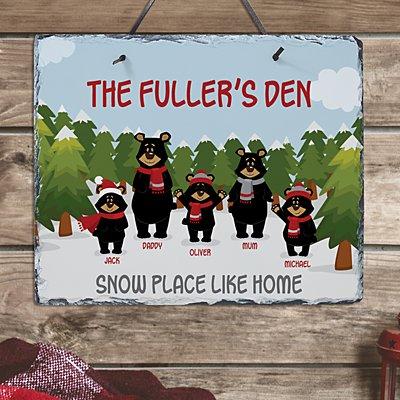 Beary Christmas Family Slate