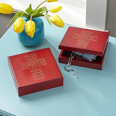 Words of Faith Wood Keepsake Box