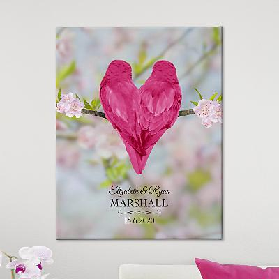 Heart Birds Canvas