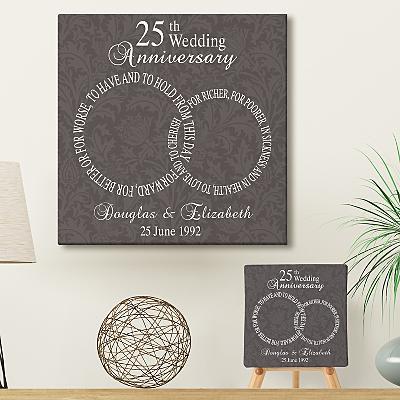 Rings of Love  Anniversary Wall Art