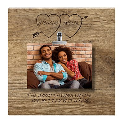 Carved in Love Photo Canvas - 27x27 cm