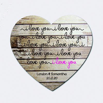 I Love You Wooden Heart