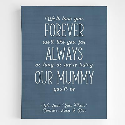 Mummy You Will Be Canvas Wall Art
