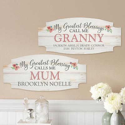 Greatest Blessings Wood Sign