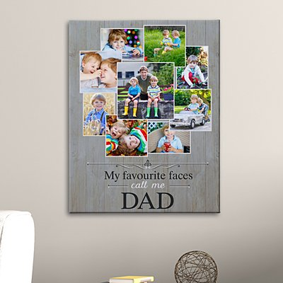 Favourite Faces Photo Canvas
