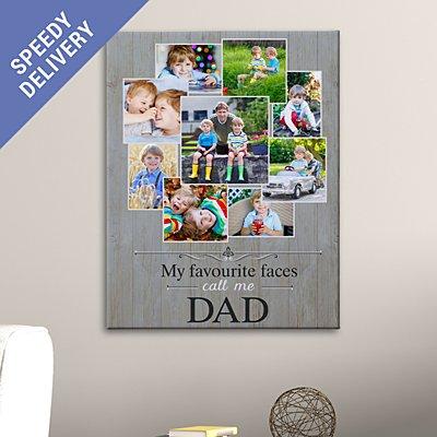 Favourite Faces Photo Canvas