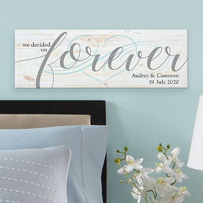 We Decided on Forever Canvas