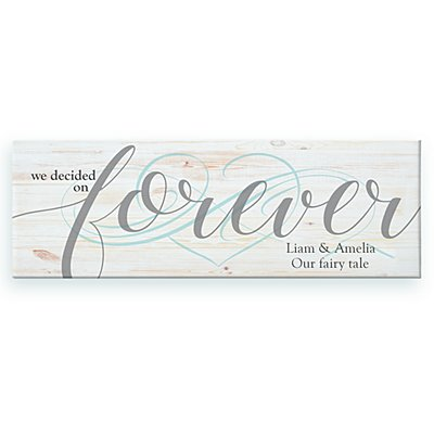 We Decided on Forever Canvas - 45x15 cm
