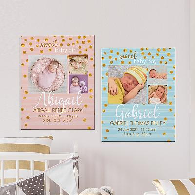 Introducing Our Baby Photo Canvas