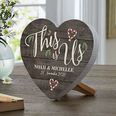 This is Us Holiday Mini Wooden Heart