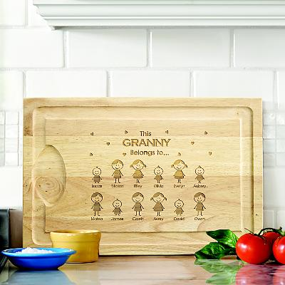 Family Belonging Wooden Cutting Board