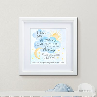 Love You Always Square Framed Print