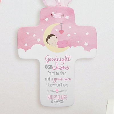 Goodnight Jesus Ceramic Cross