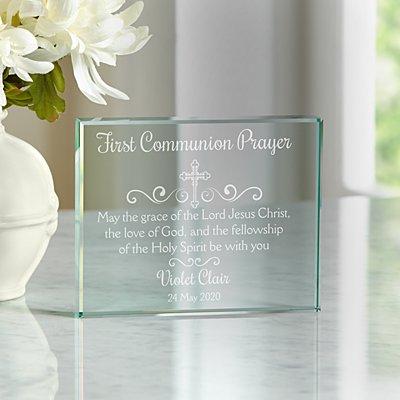 Sacrament Prayer Glass Block
