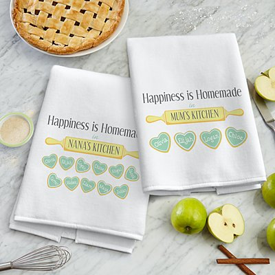 Happiness is Homemade Tea Towel