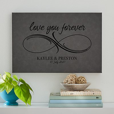 Infinite Love Leather Wall Art