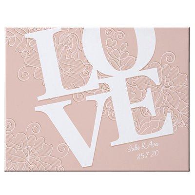 LOVE Couple Canvas-Blush 35x27 cm