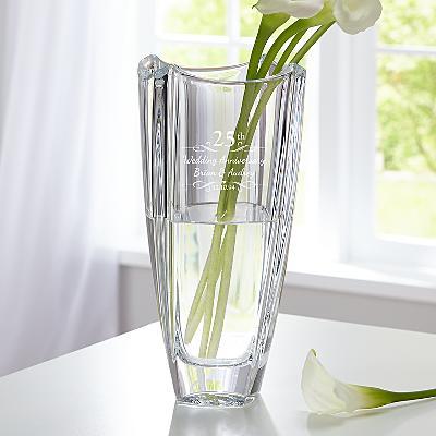 Galway Crystal Engraved Anniversary Vase