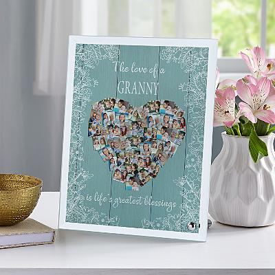 Love Fills Her Heart Photo Glass Frame