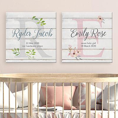 Elegant Baby Name Canvas