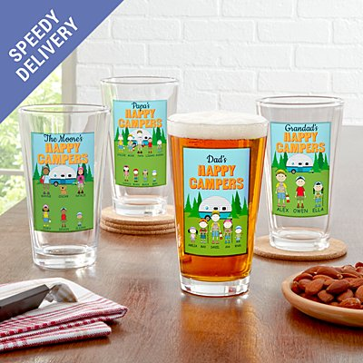 Happy Campers Pub Glass