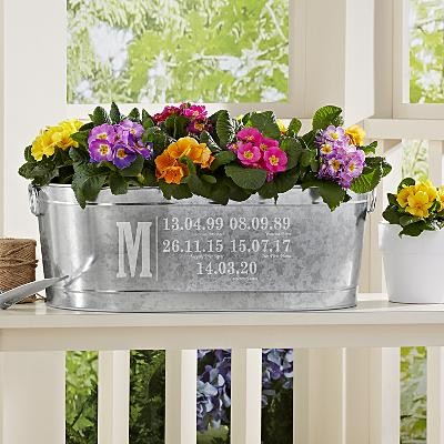 Fun Family History Planter Tub