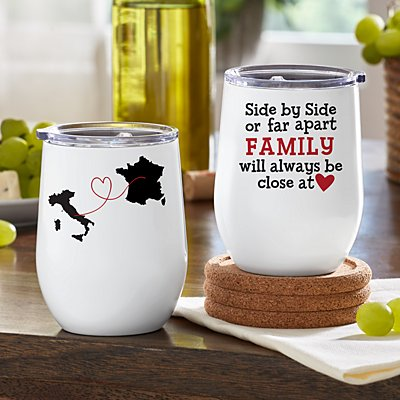 Far Apart, Close At Heart Insulated Wine Tumbler