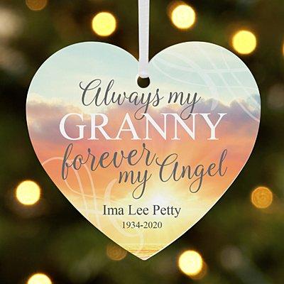 Forever My Angel Memorial Heart Bauble