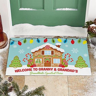 Gingerbread Greetings Doormat