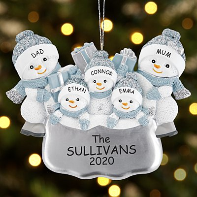 The Original Snow Buddies Santa's Present Family Bauble