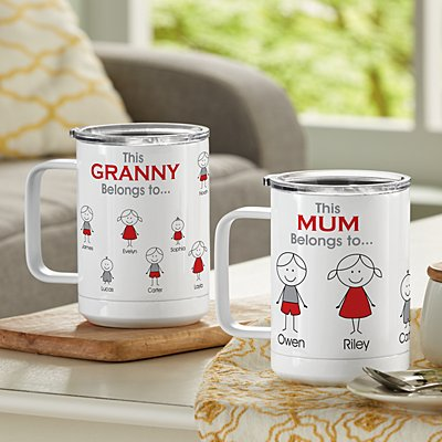 Family Belonging Insulated Coffee Mug