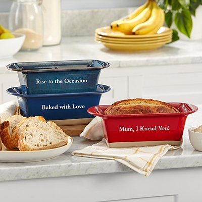 Baking Time Stoneware Loaf Pan