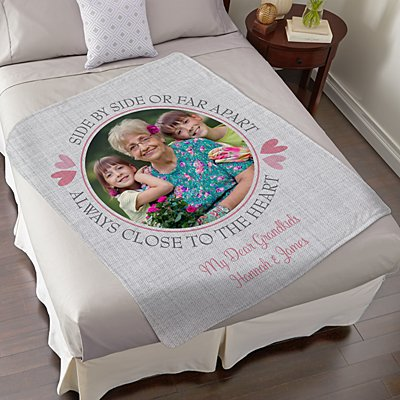 Always Close To Me Photo Plush Blanket